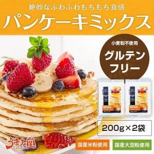 グルテンフリー パンケーキミックス 200g×2袋セット 米粉 大豆粉 メール便 送料無料 ポイント消化 お試し ホットケーキミックス