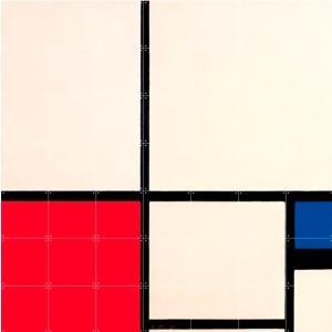 IXXI Mondriaan Composition in Colours - small [100*100]|umd-tsutayabooks