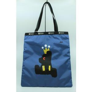【 DICK BRUNA × LeSportsac ディックブルーナ×レスポートサック】BLACK BEAR Blue Bag EMERALD TOTE umd-tsutayabooks