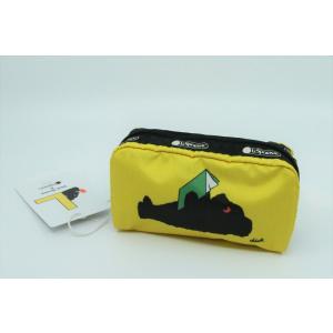 【 DICK BRUNA × LeSportsac ディックブルーナ×レスポートサック】BLACK BEAR Yellow Pouch RECTANGULAR COSMETIC umd-tsutayabooks