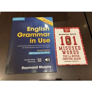 【送料無料:2冊セット】English Grammar in Use+Grammar Girl's 101 Misused Words You'll Never Confuse Again|umd-tsutayabooks