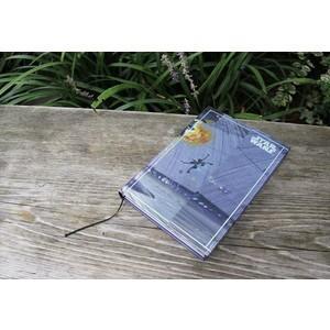 スター・ウォーズ 世界限定500個!ノート D エピソード6モチーフ デススターのコアを破壊するミレニアムファルコンのイメージボード umd-tsutayabooks
