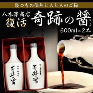しょうゆ 醤油 調味料 八木澤商店  奇跡の醤 (ひしお) 500ml×2本 ギフト 常温