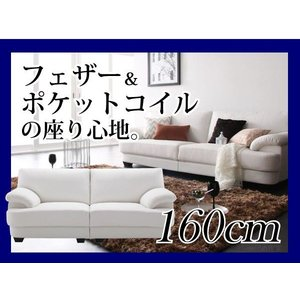 ソファー 2.5人掛け 160cm モダンソファ フランス産フェザー ヴォーグ・ココ VOGUE-coco|umekiti