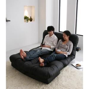 日本製 ソファー カウチソファ フロアソファ リクライニングソファー 合皮|umekiti