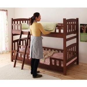 天然木コンパクト分割式2段ベッド|umekiti