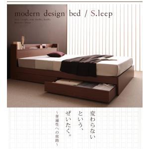ベッド 収納 シングル マットレス付き ベット ブラウン ボンネルコイル レギュラー|umekiti|02