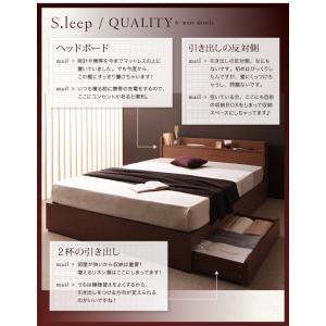 ベッド 収納 シングル マットレス付き ベット ブラウン ボンネルコイル レギュラー|umekiti|03