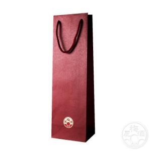 紙袋 1本用 赤色 720mlサイズ  「ラッピング」|umeshu