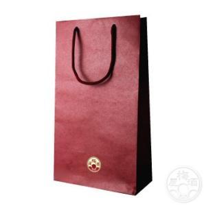 紙袋 2本用 赤色 720mlサイズ  「ラッピング」 umeshu