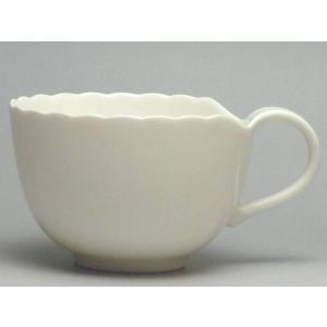 【B級品】木の葉(白) コーヒーカップ [普段使いの食器]