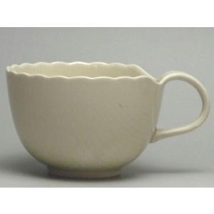 【B級品】木の葉(アイボリー) コーヒーカップ [普段使いの食器]