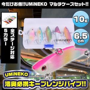 KEEPレンジバイブ バイブレーション シーバス ルアー 6cm 10g 5個セット ウミネコ バイブレーション 65mm NKVB005 ケース 青物 ルアー アカキン等 umineko-shoji