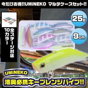 KEEPレンジバイブ バイブレーション シーバス ルアー 9cm 25g 10個セット ウミネコ バイブレーション 90mm NKVB009 ケース 青物 バス ブラック パール ホワイト umineko-shoji