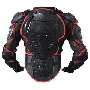 上半身 プロテクター 2XL サイズ ウミネコ 3層耐衝撃 02 バイク モトクロス ポケバイ スノボ スノーボード 背中 胸 ヒジ 腕 肩 腰 レッド ガード メッシュ|umineko-shoji