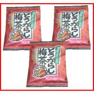 カプサイシン入りのとうがらし梅茶3袋セット|uminekotayori
