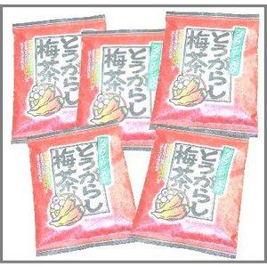 カプサイシン入りのとうがらし梅茶5袋セット|uminekotayori
