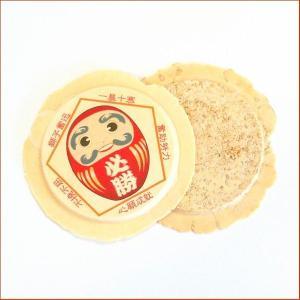 必勝合格祈願せんべい(プリント南部せんべい1枚・白胡麻煎餅1枚)|uminekotayori