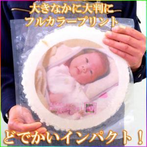 プリント南部大判せんべい16センチ印刷・かに味4枚セット(オリジナル オーダーメイド)|uminekotayori