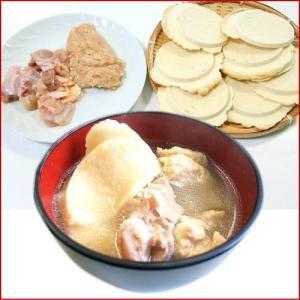 八戸せんべい汁セット(青森地鶏シャモロック正肉とツミレ、鍋用お汁せんべい8枚)|uminekotayori