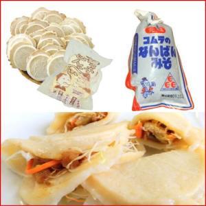 コムラのなんばんみそ(南蛮味噌)と八戸せんべい汁用鍋用かやき煎餅のセット|uminekotayori