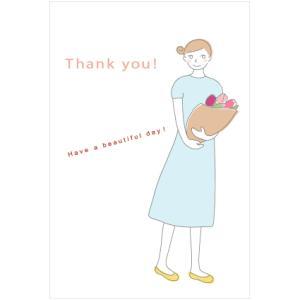 「花束ガール」ユカコさんのポストカード|uminekoya
