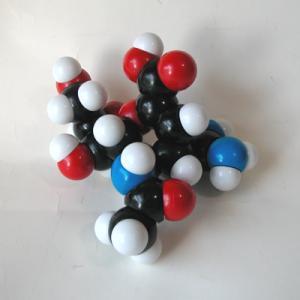 YYS原子ブロック「ザナミビル分子(C12H20N4O7)」分子模型|uminekoya