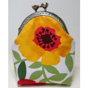 花柄がま口ポーチ がま口小物入れ G-005|umiumi-pocket