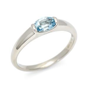 SV925 アクアマリン リング(サイズ3号〜20号) 3月誕生石 アクセサリー 指輪
