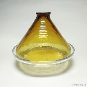 ガラス製のタジン鍋 アデリア スチームドーム 1個 です。 日本製です。 生産終了品です。  電子レ...