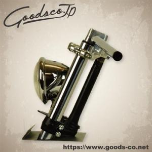 GOODS ドラッグバー クローム - 7/8インチ 汎用 改造 ローハンドル 22.2mm   ○...