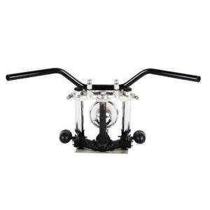 カスタムハンドル ナロートラッカーバー クローム 22.2mm  GOODS製品 汎用 ハンドル  ...
