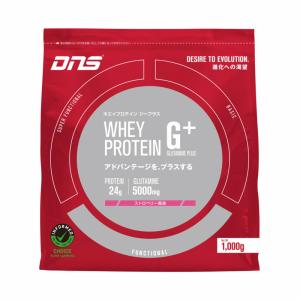 DNS G+ プロテイン ジープラス ストロベリー風味/水でおいしい グルタミン|under100s