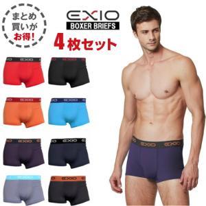 4枚組 エクシオ/EXIO ボクサーパンツ  メンズ 下着 前閉じ 男性下着 アンダーウェア インナー M/L/XL/2XL|under100s