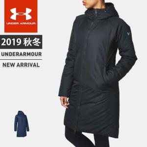 アンダーアーマー レディース ロングコート 中綿 フード付き UA インサレートロングコート ルーズ はっ水 防風 防寒 軽量 ストーム トレーニング