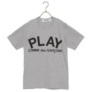 COMME des GARCONS Tシャツ メンズ コムデギャルソン T-SHIRT PLAY LOGO GREY