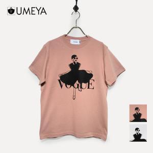 パロディプリントTシャツ une-chance