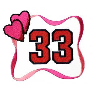 広島カープ 刺繍ワッペン カープ女子 33 (C-0002) カープユニフォーム CARP 広島東洋カープ カープ女子 応援歌 刺繍 メール便 アイロン接着|uneemb-store