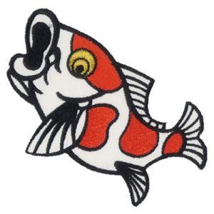 広島カープ 刺繍ワッペン 鯉 (K-0003) カープユニフォーム CARP 広島東洋カープ カープ女子 応援歌 刺繍 メール便 アイロン接着|uneemb-store