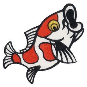 広島カープ 刺繍ワッペン 鯉 (K-0004) カープユニフォーム CARP 広島東洋カープ カープ女子 応援歌 刺繍 メール便 アイロン接着|uneemb-store