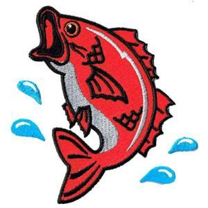 広島カープ 刺繍ワッペン 鯉 (K-0005) カープユニフォーム CARP 広島東洋カープ カープ女子 応援歌 刺繍 メール便 アイロン接着|uneemb-store