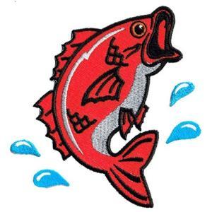 広島カープ 刺繍ワッペン 鯉 (K-0006) カープユニフォーム CARP 広島東洋カープ カープ女子 応援歌 刺繍 メール便 アイロン接着|uneemb-store