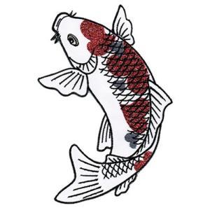 広島カープ 刺繍ワッペン 鯉 (K-0007) カープユニフォーム CARP 広島東洋カープ カープ女子 応援歌 刺繍 メール便 アイロン接着|uneemb-store