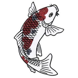 広島カープ 刺繍ワッペン 鯉 (K-0008) カープユニフォーム CARP 広島東洋カープ カープ女子 応援歌 刺繍 メール便 アイロン接着|uneemb-store