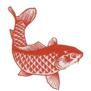 広島カープ 刺繍ワッペン 鯉 レッド (K-0010) カープユニフォーム CARP 広島東洋カープ カープ女子 応援歌 刺繍 メール便 アイロン接着|uneemb-store