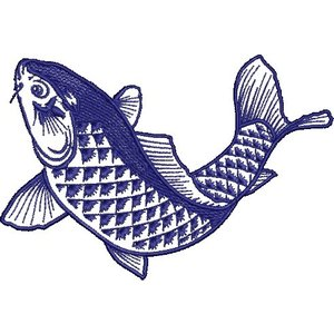 広島カープ 刺繍ワッペン 鯉 ネイビー (K-0011) カープユニフォーム CARP 広島東洋カープ カープ女子 応援歌 刺繍 メール便 アイロン接着|uneemb-store