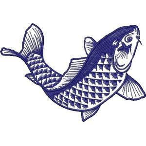 広島カープ 刺繍ワッペン 鯉 ネイビー (K-0012) カープユニフォーム CARP 広島東洋カープ カープ女子 応援歌 刺繍 メール便 アイロン接着|uneemb-store