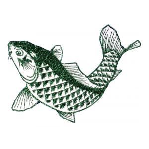 広島カープ 刺繍ワッペン 鯉 グリーンラメ (K-0013) カープユニフォーム CARP 広島東洋カープ カープ女子 応援歌 刺繍 メール便 アイロン接着|uneemb-store