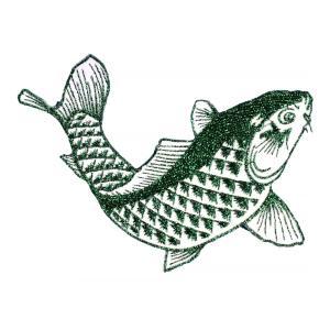 広島カープ 刺繍ワッペン 鯉 グリーンラメ (K-0014) カープユニフォーム CARP 広島東洋カープ カープ女子 応援歌 刺繍 メール便 アイロン接着|uneemb-store