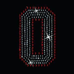 広島カープ ワッペン ラインストーン 0 (RS-0001) カープユニフォーム CARP 広島東洋カープ カープ女子 応援歌 刺繍 メール便 アイロン uneemb-store